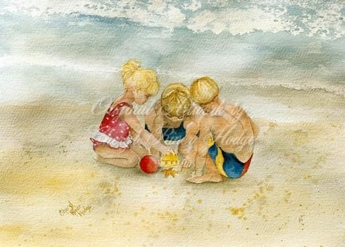 Three on a Beach